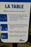 La table - Parcours d'agility de l'aire de Montélimar Est